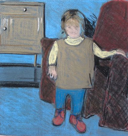 Pastel study for toddler
