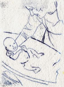 Mother and Child monoprint