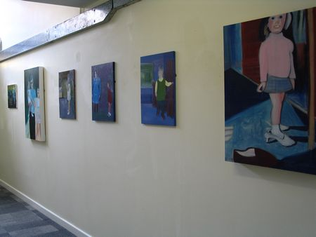 paintings on college wall