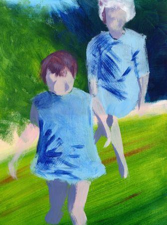 'Chase' Acrylic painting 12 x 16
