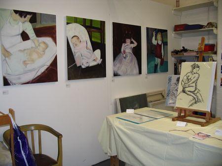 My studio at Open Studios July 2009