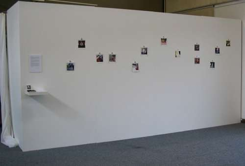 Degree show - my paintings as they were displayed