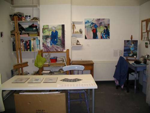 Towards the back of my studio